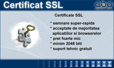 Certificat SSL Hosting web site hosting romania .ro .net